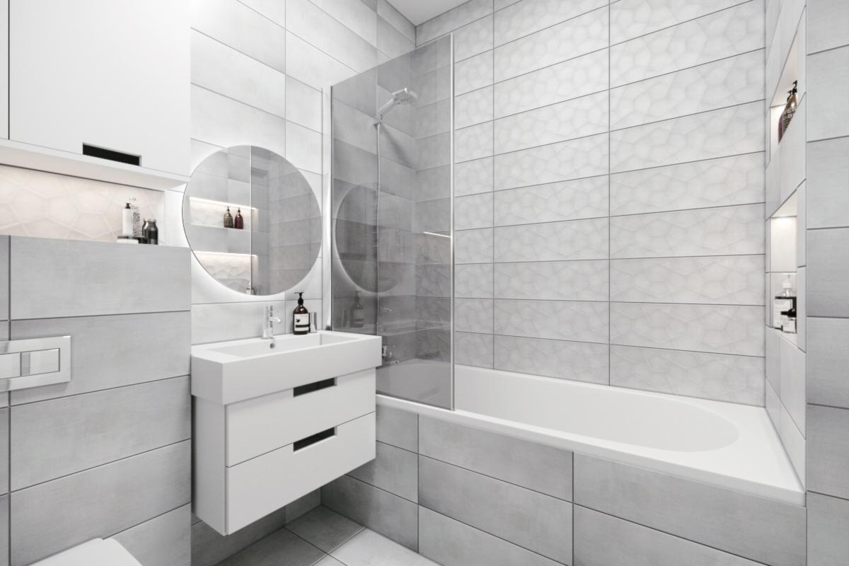 ремонт ванной в скандинавском стиле